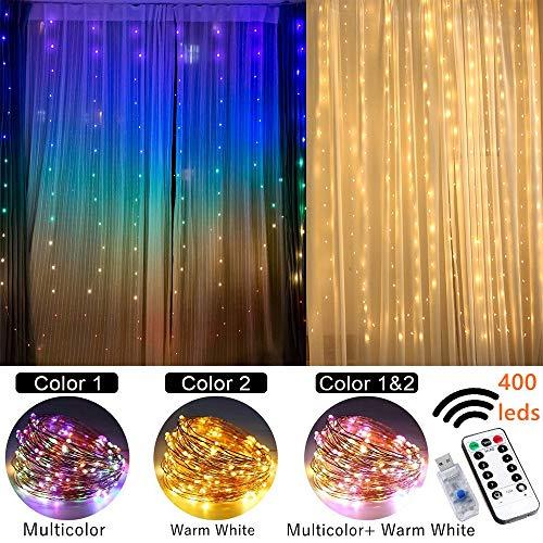 Cortina de luces led cadena de Luces de colores hadas luz decoraciones