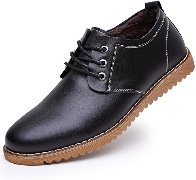 CUSTOME Hombres Zapatos Cuero Ligeras Ligeras Antideslizante Zapatos Planos Planos Zapatos Casuales