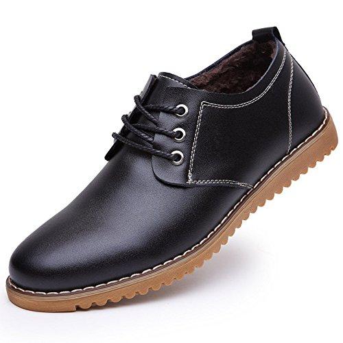 CUSTOME Hommes Neuves Chaussures Décontracté Plates Confortable Chaussures Cuir Fausse Fourrure