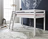 Noa and Nani - Midsleeper Cabin Bed | Mattress Included - (White)