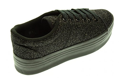 JC PLAY BY JEFFREY CAMPBELL ZOMG GLITTER BLACK Nero