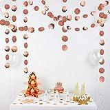 SAKUROO 4M Twinkle Schneeflocke Papiergirlanden Anhänger Ornamente Weihnachtsschmuck für Zuhause Neujahr Zubehör, Runde Rose Gold