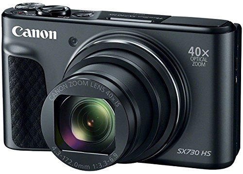 Canon PowerShot SX730 HS (Black) 20MP Digital Camera with 40x Optical Zoom + Memory Card + Camera Case