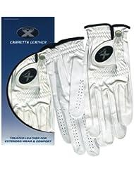 Tour X piel de Cabretta guante de Golf para hombre (mano derecha, mediano y grande
