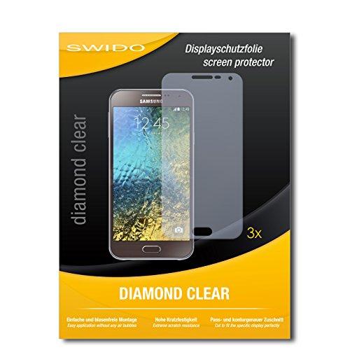 SWIDO 3 x Schutzfolie Samsung Galaxy E5 Bildschirmschutz Folie DiamondClear unsichtbar