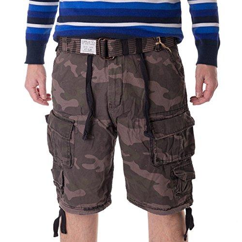 Surplus Division Shorts gewaschen, Black camo, XL - Surplus Camo