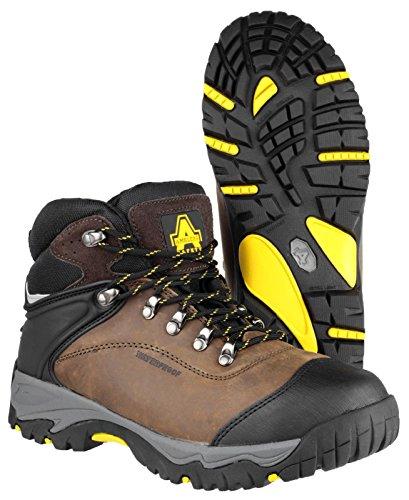 Amblers Safety FS93C di sicurezza, scarpe da donna in pelle, leggeri e occlusione, Nero (nero), 42
