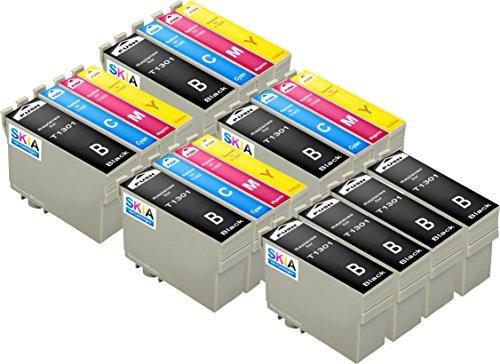 Preisvergleich Produktbild 20-Stück Skia Tintenpatronen Epson T 1301 1306 Stylus Office BX 320 FW 525 WD 535 625 FWD 625 630 635 925 935 SX 525 535 620 WF 3010 DW 3520 DWF 7525 Tinten patronen