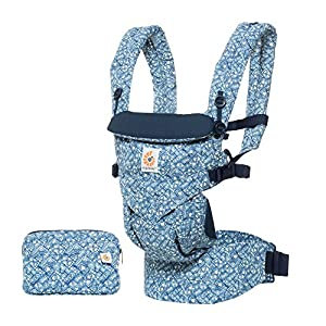 Ergobaby Baby Carrier 4 Position Omni 360 Batik Indigo Front Back Baby Carrier Infant, Body Carrier Front Facing for Men and Women   5