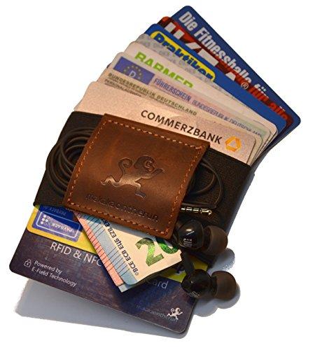 Premium Slim Wallet & Kartenetui mit Geldklammer (4-12 Karten) - Crazy Horse Rindsleder - Mini Portemonnaie für Herren & Damen - Kleine Geldbörse, minimalistischer Geldbeutel