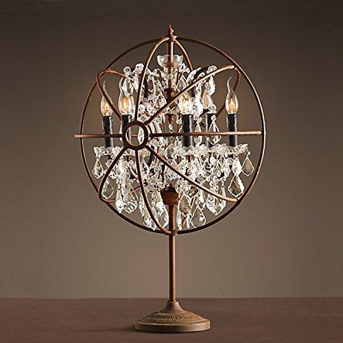 BBSLT lampada da tavoloVintage Art Deco tavolo lampada continentale soggiorno camera da letto lampada da (Art Deco Di Cristallo)