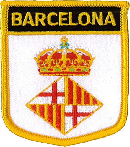 Klicnow Barcelona City Shield brodé Patch 7 x 6 cm