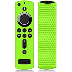 Hydream Housse Coque en Silicone pour Fire TV Stick Télécommande avec Vocale Alexa, Anti-Slip Antichoc de Remote Case Étui de Protection pour Amazon Fire TV Stick 4K / Fire TV Cube (Vert)