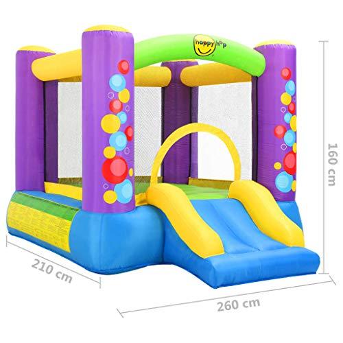 Tidyard Castillo Hinchable para Niños Castillo Hinchable con Tobogán Happy Hop 260X210X160 Cm PVC
