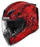 Icon Airflite Krom rosso/nero casco moto