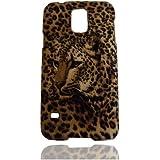 Wild Leopard Hülle Schale Abdeckung Case Cover Shell Housing für Samsung Galaxy S5 SV S V I9600_Braun