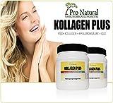 Kollagen Pulver mit Marine Collagen Hyaluronsäure und Q10. Haut Bindegewebe Gelenke & Knorpel Anti-Age