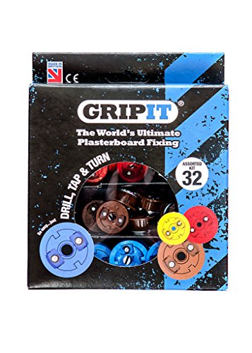 Grip-It Assorted Plasterboard Fixings - (32 Pieces)