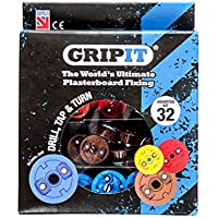 Grip-It Assorted Plasterboard Fixings - (32 Pieces) - ukpricecomparsion.eu