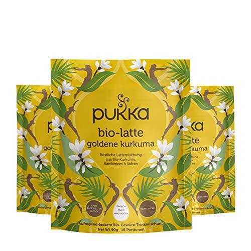 PUKKA bio-latte goldene kurkuma, 3er Pack