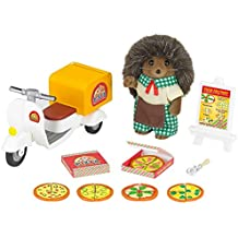 SYLVANIAN FAMILIES Hedgehog Father Pizza Delivery Set Mini muñecas y Accesorios Epoch para Imaginar 5238