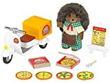 SYLVANIAN FAMILIES- Hedgehog Father Pizza Delivery Set Mini muñecas y Accesorios, (Epoch para Imaginar 5238)