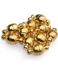 10 Set Magnet Verschluss Kettenverschluss 6mm 8mm Versilbert/Vergoldet für Kette 6mm