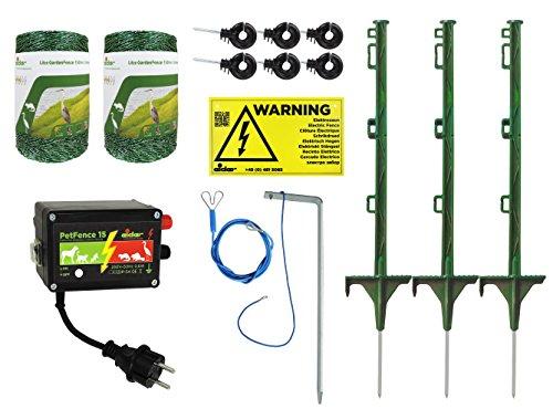 Weidezaun Teich-Set / Teichschutz für Katzen, Hunde, Fischotter, Reiherabwehr, Marder Elektrozaun komplettset zum Schutz von Fischen in Ihrem Gartenteich