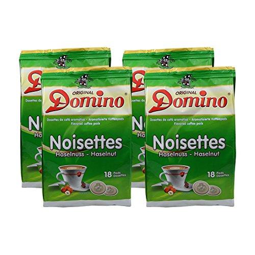 4x DOMINO Kaffeepads Haselnuss (á 18 Pads)
