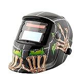 Tiptiper Maschera di saldatura a saldare, Mascherina casco di saldatura automatica con funzione di macinazione a grasso