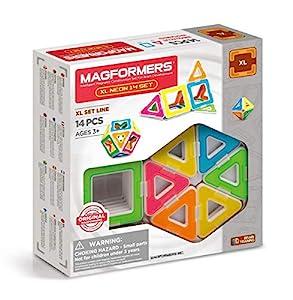 Magformers 706005 XL Neon 14 Piezas Magnético construcción Set