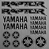 YAMAHA Raptor sticker decal quad ATV 14 Pieces aus Hochleistungsfolie Aufkleber Autoaufkleber Tuningaufkleber von SUPERSTICKI® aus Hochleistungsfolie für alle glatten Flächen UV und Waschanlagenfest Tuning Profi Qualität Auto KFZ Scheibe Lack Profi-Qualität Tuning