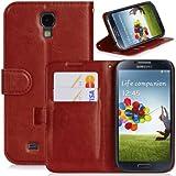 DONZO® Etuis für Samsung Galaxy S4GT-i9500/GT-I9505LTE, rot, WALLET STRUCTURE PREMIUM