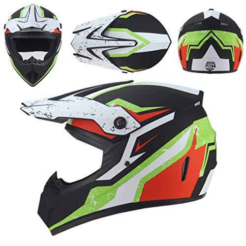 Casco moto adulto per motocross Casco integrale per moto da discesa Dirt Bike Mountain Moto Cappucci di sicurezza per corse all'aperto