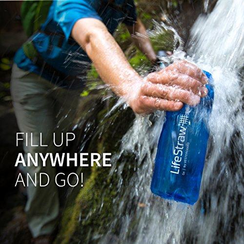 LifeStraw® Go 2-stage Filtration // Wasserflasche mit 2-stufiger Filtration – Aktivkohle entfernt Bakterien & Protozoen // Reduziert Chemikalien & schlechten Geschmack - 4