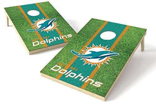 Proline Kornloch-Set NFL Felddesign, 60 x 90 cm, Miami Dolphins 2x3 Cornhole Board Set - Field, Team Color, 2' x 3'