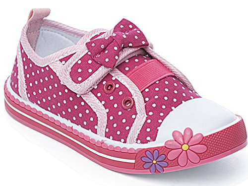 Foster Footwear - Zapatillas de Lona para niña rosa rosa, color rosa,