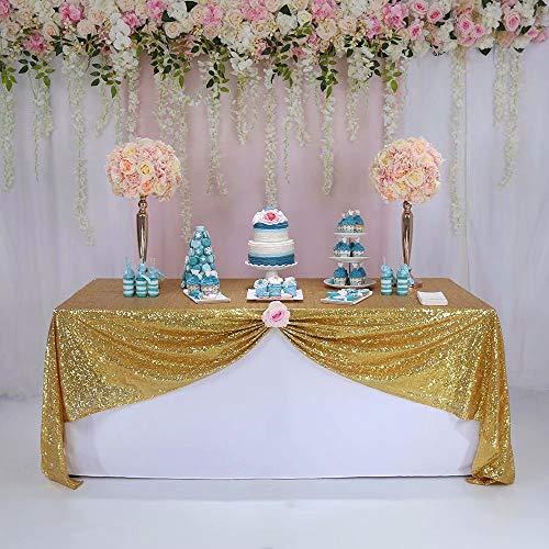 letten Tischdecke Rechteckig Glänzend Elegant Glitter Verschiedene Farben - Gold ()