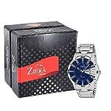 #7: ZIERA Analogue Blue Dial Men's Watch - Zr7040