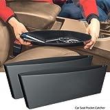 #7: J 2x Catch Car Catcher Storage Bag Box Caddy Car Seat Side Gap Pocket Car Seat Side Pocket Caddy Car Seat Slit Pocket Black