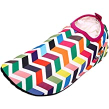 Panegy - Zapatos Deportivos de Agua Aguamarina Descalzo para Natación Playa Buceo Surf Skin Shoes Aque Para Unisex Hombre Mujer Slip on - Rojo Azul - Talla EU 36 38 40 42 44