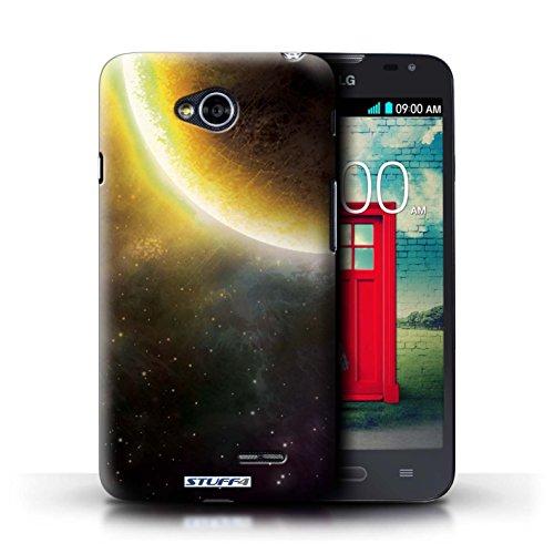 Kobalt® Imprimé Etui / Coque pour LG L70/D320 / Planète Pourpre conception / Série Cosmos Éclipse Jaune