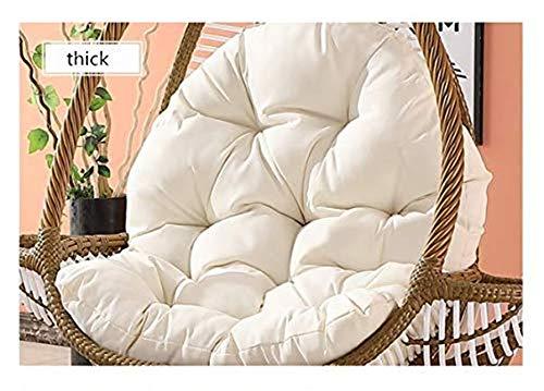 Oeuf Suspendu Hamac Chaise Coussins sans Stand,Chaise Suspendue Swing Nest Cushion Couverture Amovible Panier Suspendu Autour De Coussin De Berceau Pad épais-a 86x120cm(34x47inch)