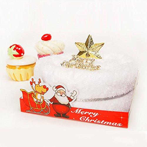 Zifferblatt Peeling (dckr Mikrofaser Handtuch Frische Sahne Kuchen Weihnachten Design Geschenk X Mas Einzigartige Special Present)