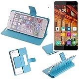 Flipcover Schutz Hülle für Elephone S3 Lite, blau