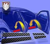 PR Folia Einstiegsleisten - Einstiegschutz Türeinstiege Einstiege (passend für Modell siehe Beschreibung) - Lackschutzfolie für Einstiege in Carbon schwarz matt