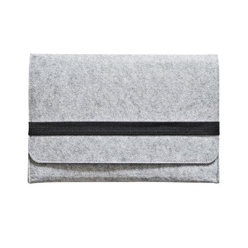 iprotect Schutzhülle MacBook Pro 13.3 Zoll Filz Sleeve Hülle Laptop Tasche Grau