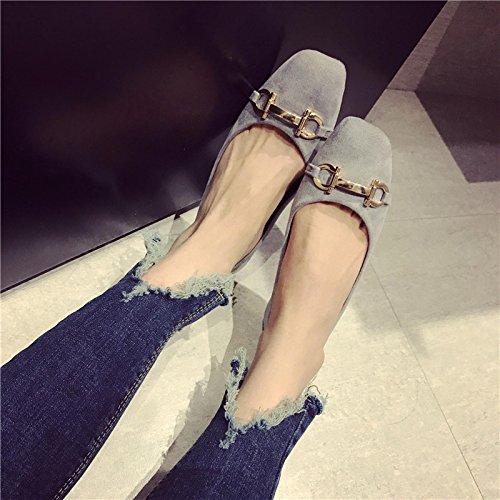 WYMBS Le cadeau le plus intime Nouvelles chaussures femmes simple pour les plus gros port de la lumière de la tête du parti avec télévision télévision shoe Shoe Gray