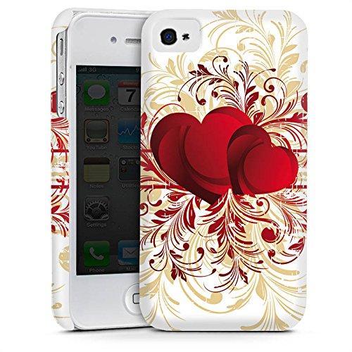 Apple iPhone 4 Housse Étui Silicone Coque Protection Amour silencieux Motif Motif Cas Premium mat