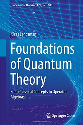 Foundations of Quantum Theory: From Classical Concepts to Operator Algebras (Fundamental Theories of Physics, Band 188)